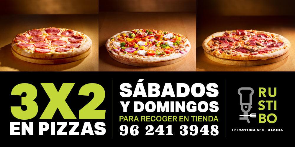 Promoción Pizzas a mitad de precio.